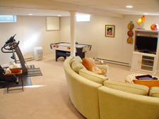 basement family room in Ashland